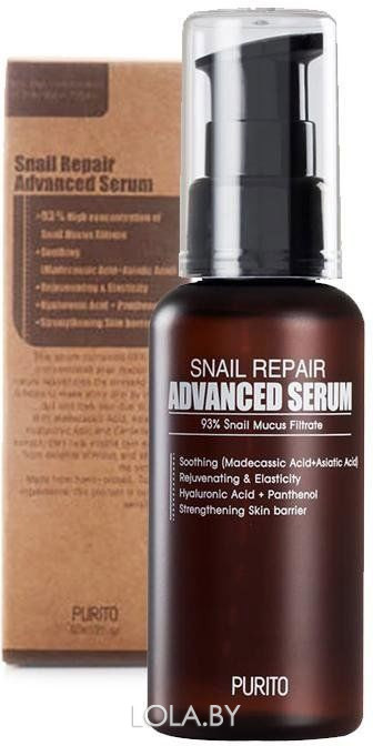 Многофункциональная сыворотка Purito с муцином улитки  Snail Repair Advanced Serum 60 мл