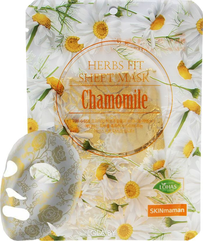 Маска тканевая NOHJ HERBS FIT SHEET Mask Chamomile