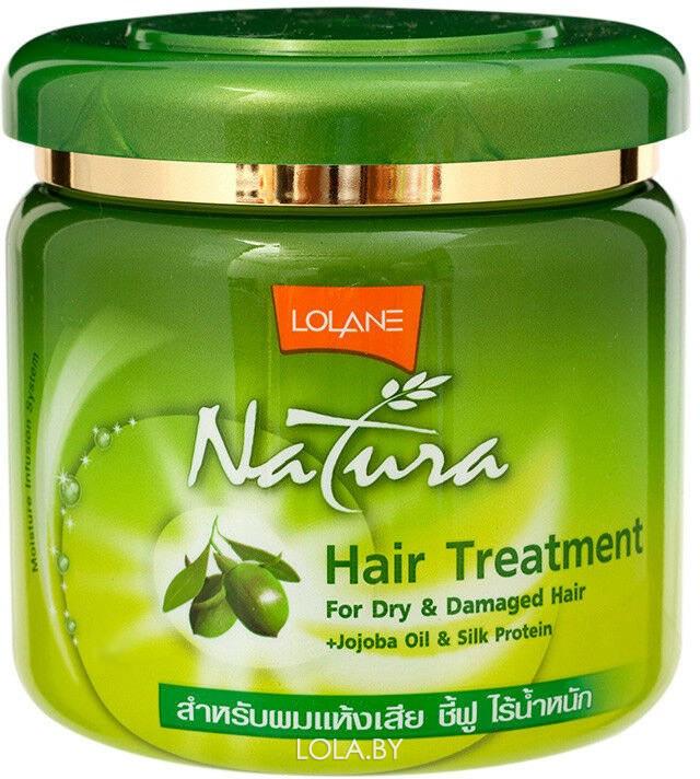 Маска LOLANE для сухих и поврежденных волос с маслом жожоба и протеинами шелка 100 гр