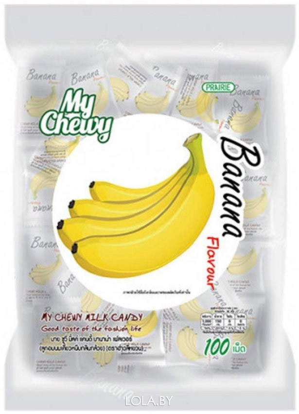 Молочные конфеты MY CHEWY с бананом 67 гр