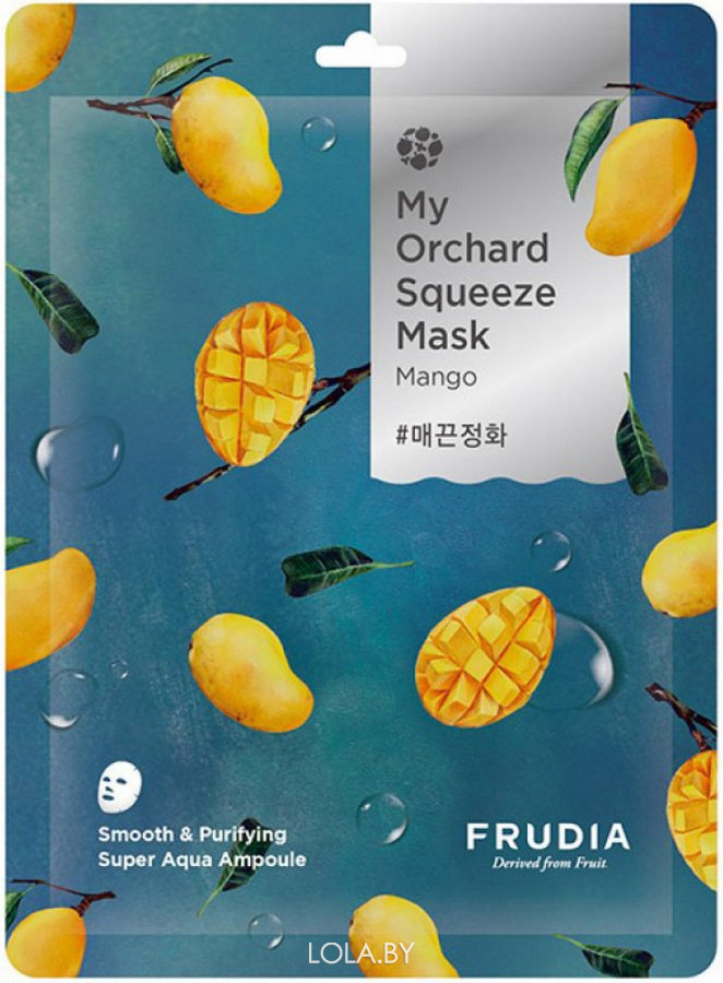 Смягчающая маска Frudia с манго My Orchard Squeeze Mask Mango