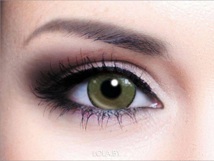 Цветные линзы HERA Calypso Green на 3мес. от 0 до -6 дптр (2шт)