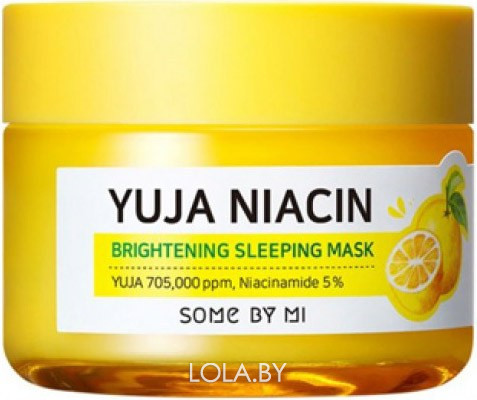 Ночная маска SOME BY MI YUJA NIACIN 30 DAYS MIRACLE BRIGHTENING SLEEPING MASK 60 гр