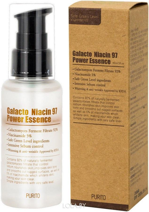 Осветляющая антивозрастная эссенция Purito Galacto Niacin 97 Power Essence 60 мл