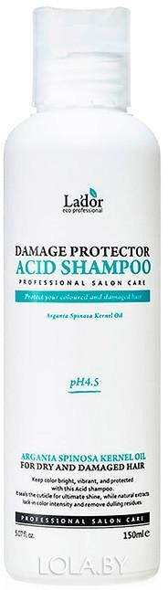 Шампунь Lador Damage Protector Acid Shampoo с коллагеном и аргановым маслом 150 мл