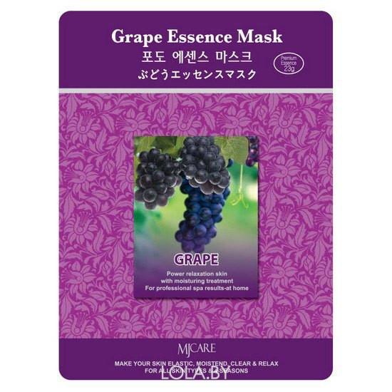 Тканевая маска для лица MIJIN Essence Mask виноград