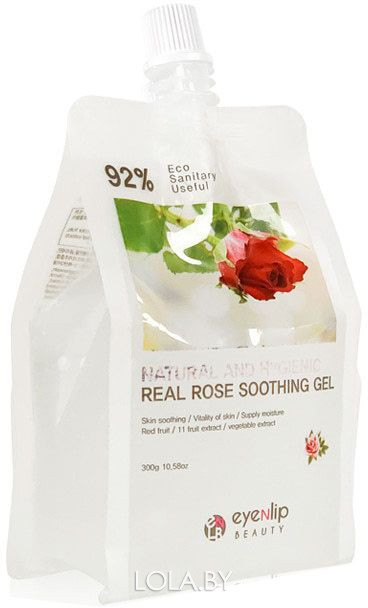 Гель для тела EYENLIP увлажняющий NATURAL AND HYGIENIC REAL ROSE SOOTHING GEL 300гр