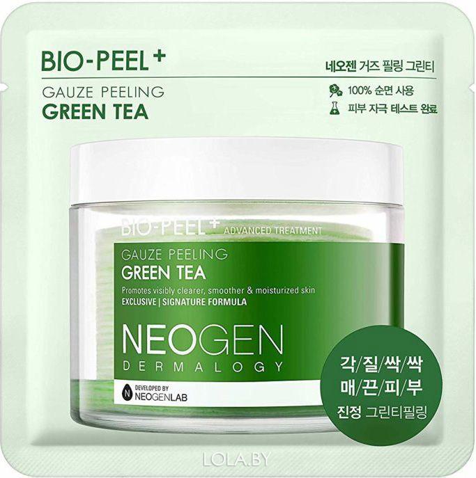Пилинг-диск  NEOGEN с зеленым чаем Dermalogy Bio-Peel Gauze Peeling Green Tea, 1 шт