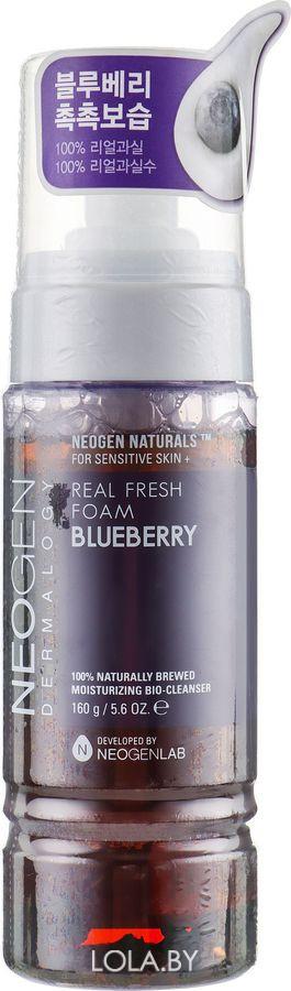 Увлажняющая пенка NEOGEN с черникой Dermalogy Real Fresh Foam Cleanser Blueberry 120 гр