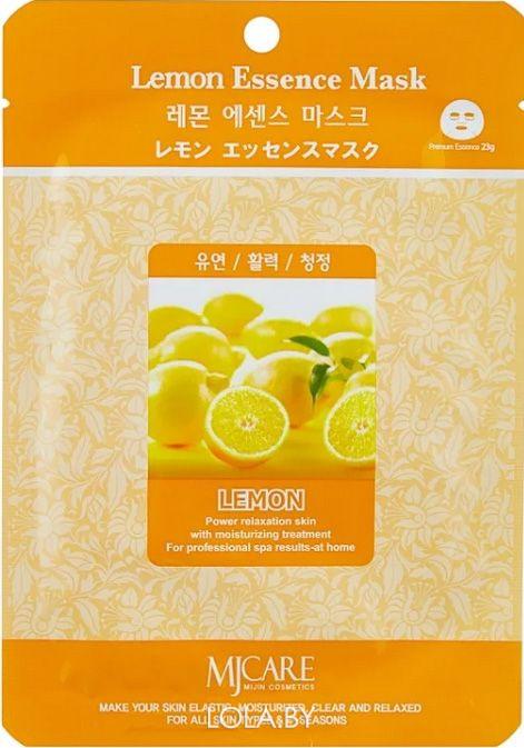 Тканевая маска для лица MIJIN Essence Mask лимон
