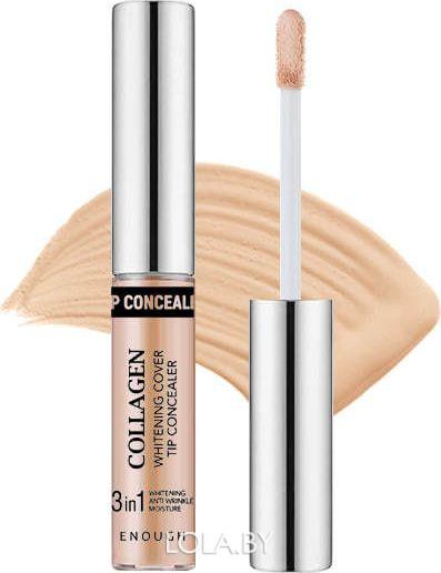 Консилер Enough осветляющий Collagen Whitening Cover Tip Concealer тон 02 5 гр