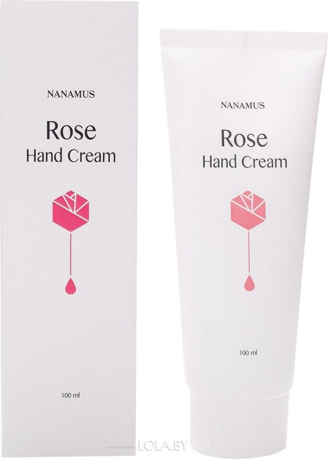 Крем для рук NANAMUS с экстрактом розы ROSE HAND CREAM 100 мл