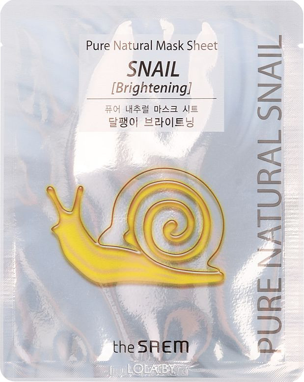 Тканевая маска The SAEM улиточная сияние Pure Natural Mask Sheet Snail Brightening 20 мл