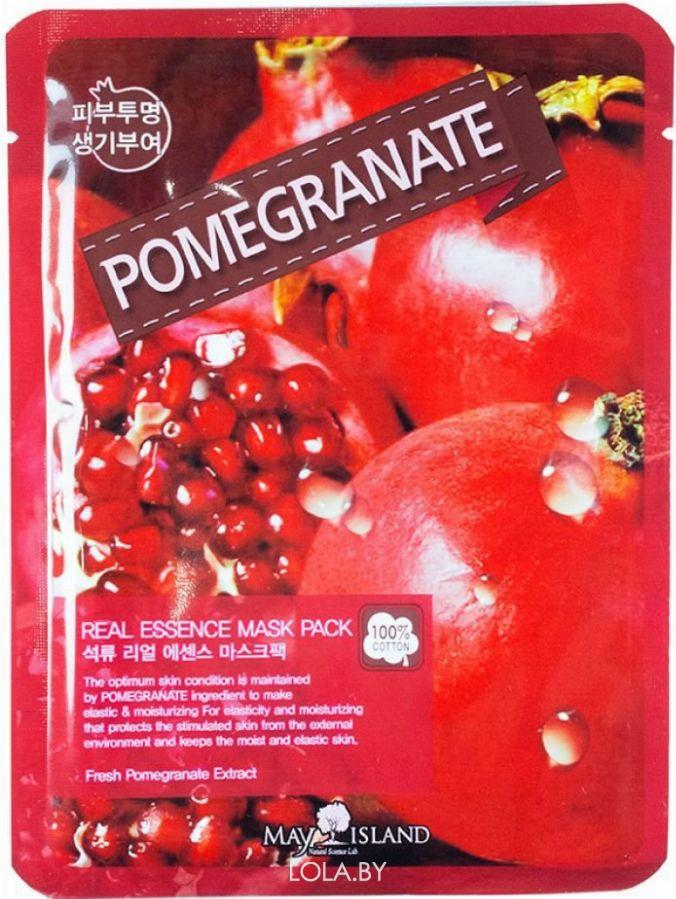 Маска для лица тканевая MAYISLAND Real Essence Pomegranate Mask Pack 25 мл