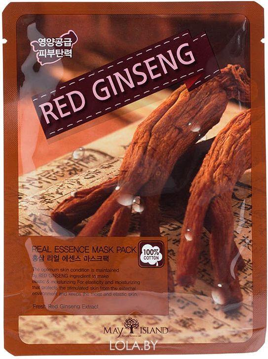 Маска для лица тканевая MAYISLAND Real Essence Red Ginseng Mask Pack 25 мл