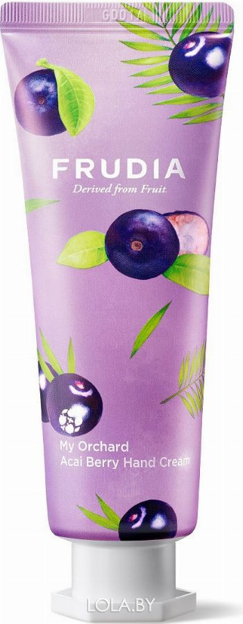 Крем для рук Frudia c ягодами асаи Squeeze Therapy Acai Berry Hand Cream 80 гр