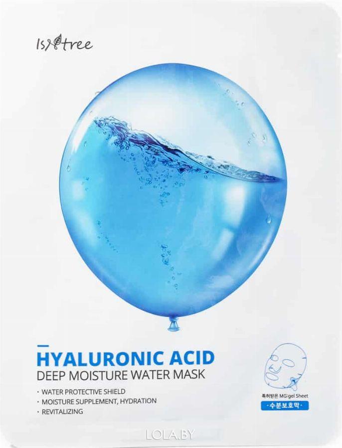 Тканевая маска IsNtree с гиалуроновой кислотой HYALURONIC ACID DEEP MOISTURE WATER MASK