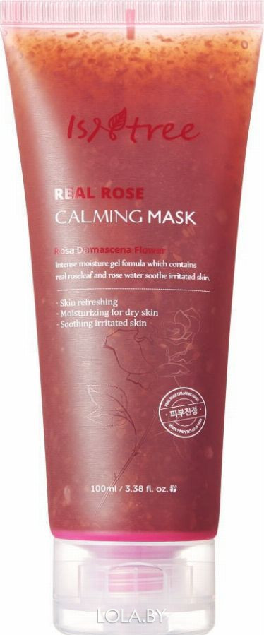 Успокаивающая маска IsNtree на основе дамасской розы REAL ROSE CALMING MASK 100 мл