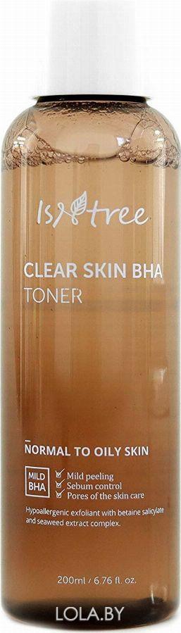 Отшелушивающий тонер IsNtree с BHA-кислотами CLEAR SKIN BHA TONER 200 мл