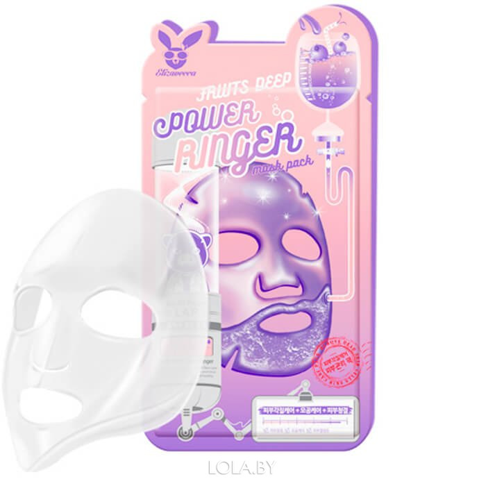 Тканевая маска для лица Elizavecca Фруктовая FRUITS DEEP POWER Ringer mask pack