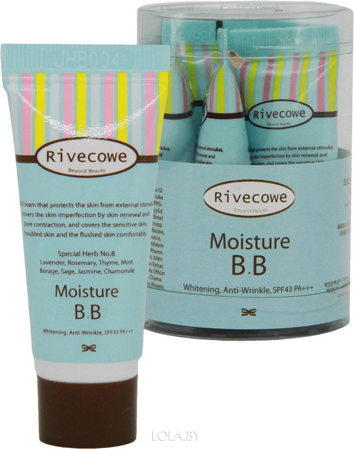 Тональный крем RIVECOWE Beyond Beauty Moisture BB SPF 43 РА+++ 5 мл