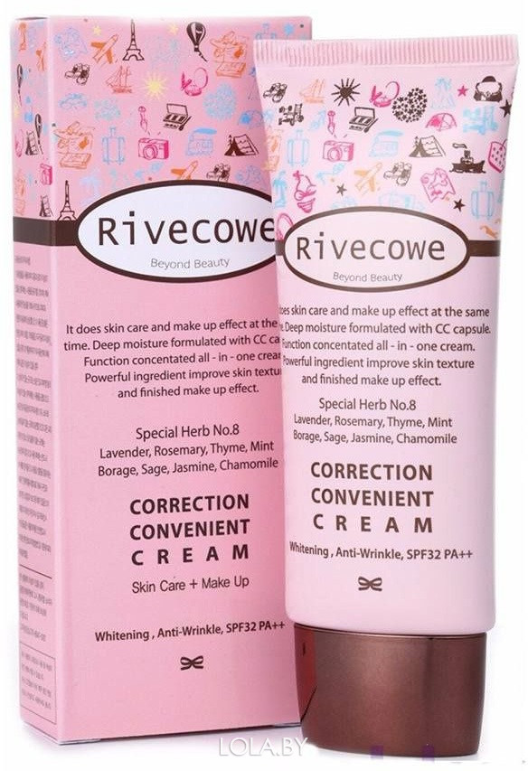 Тональный крем RIVECOWE Correction Convenient Cream (СС) SPF 43 РА+++ 40 мл