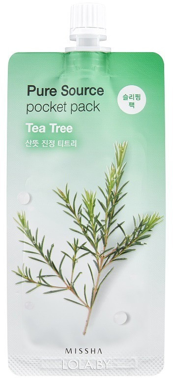 Ночная маска для лица MISSHA Pure Source Tea tree 10 ml