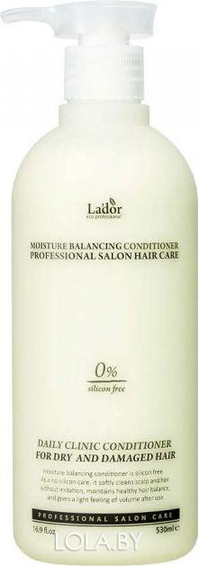 Увлажняющий бессиликоновый кондиционер LADOR для волос Moisture Balancing Conditioner 530мл