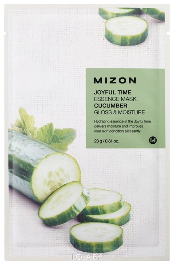 Тканевая маска для лица с экстрактом огурца Mizon Joyful Time Essence Mask Cucumber 23 гр