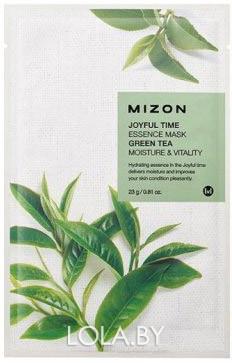 Тканевая маска для лица с экстрактом зелёного чая Mizon Joyful Time Essence Mask Green Tea 23 гр