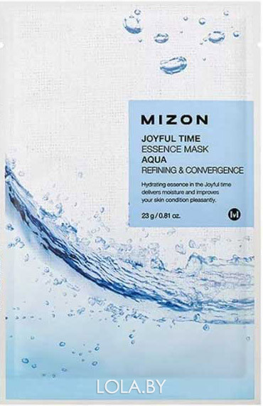Тканевая маска для лица с гиалуроновой кислотой Mizon Joyful Time Essence Mask Hyaluronic Acid 23 гр