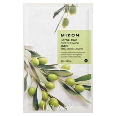 Тканевая маска для лица с экстрактом оливы Mizon Joyful Time Essence Mask Olive 23 гр