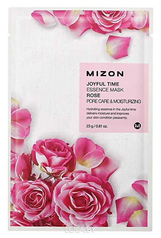 Тканевая маска для лица с экстрактом лепестков розы Mizon Joyful Time Essence Mask Rose 23 гр