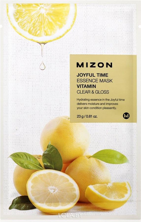 Тканевая маска для лица с витамином С Mizon Joyful Time Essence Mask Vitamin C 23 гр