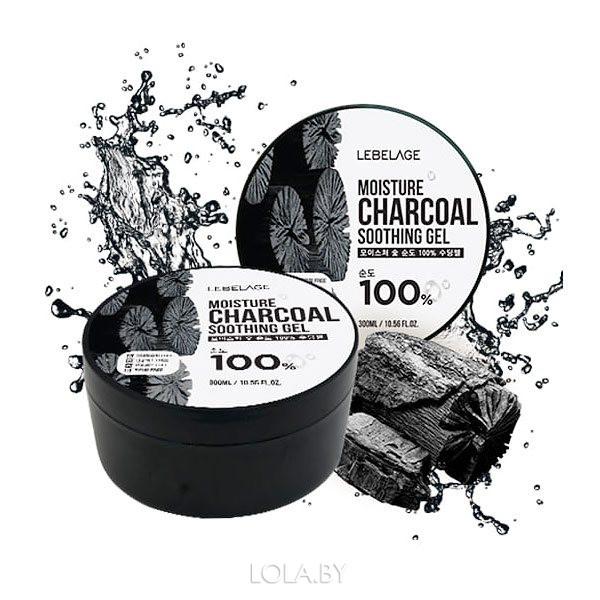 Увлажняющий успокаивающий гель LEBELAGE с углем 300мл