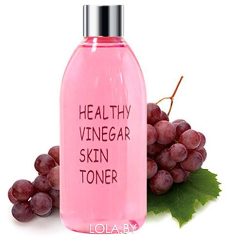 Тонер для лица REALSKIN КРАСНОЕ ВИНО Healthy vinegar skin toner (Grape wine) 300 мл