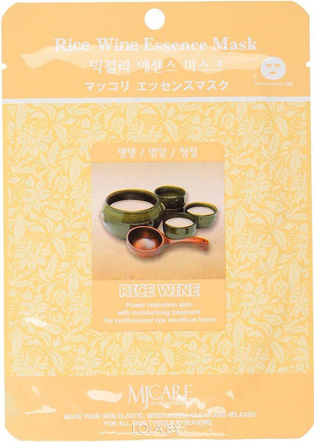 Маска тканевая для лица MIJIN Essence Mask рисовое вино
