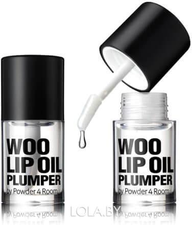 Блеск So Natural придающий губам дополнительный объем Woo Lip Oil Plumper прозрачный 4,5 гр