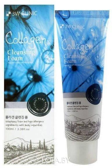 Пенка для умывания 3W CLINIC натуральная КОЛЛАГЕН Collagen Foam Cleansing 100 мл