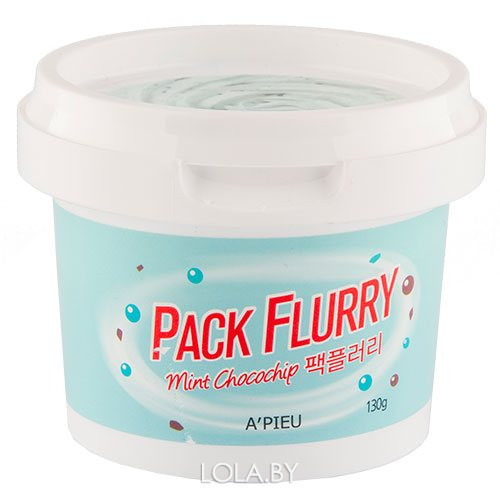 Маска-скраб для лица APIEU Pack Flurry (Mint chocochip) 130 гр