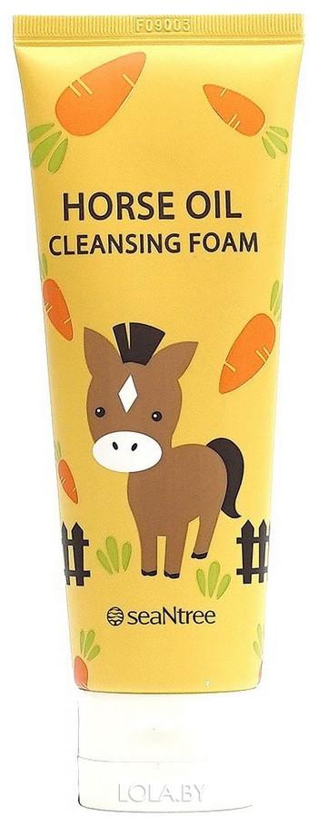 Пенка SEANTREE c лошадинным жиром Horse Oil Cleansing Foam 120мл