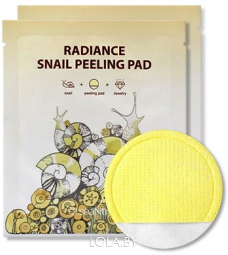 Пилинг-пэд SEANTREE с муцином улитки Radiance Snail Peeling Pad 20 мл