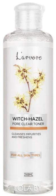 Очищающий поры тонер Larvore с гамамелисом Witch-Hazel Pore Clear Toner 248 мл