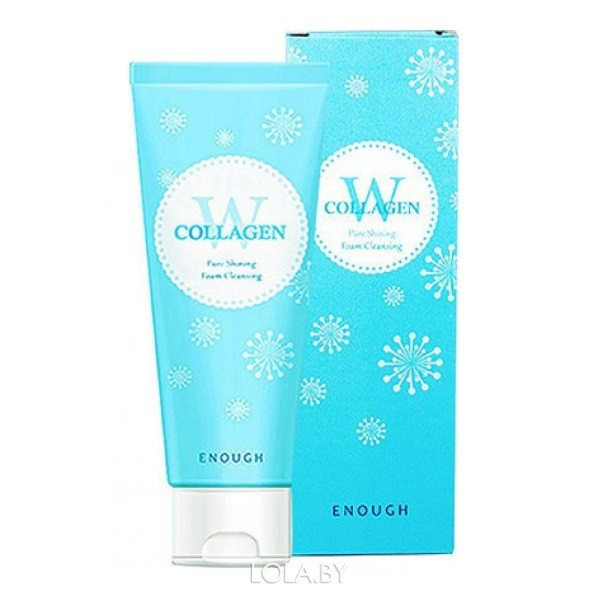 Очищающая пенка Enough с коллагеном W Collagen pure shining foam cleansing 100 мл