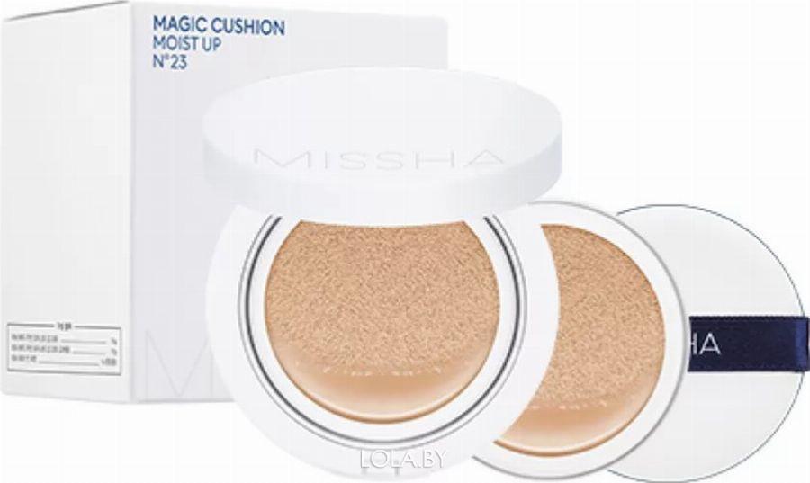 Тональная основа MISSHA Magic Cushion Moist Up Special Set No.23 + сменный блок + спонж