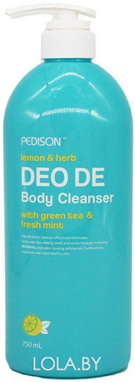 Гель для душа Pedison ЛИМОН, МЯТА DEO DE Body Cleanser 750 мл